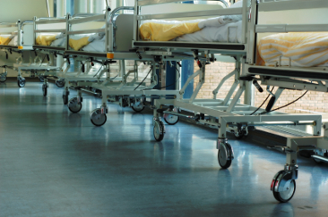 Hospital beds scaled